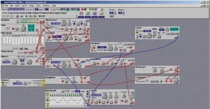"""Nord Modular Editor - showing a """"Ring Modulator Sequencer"""" patch"""