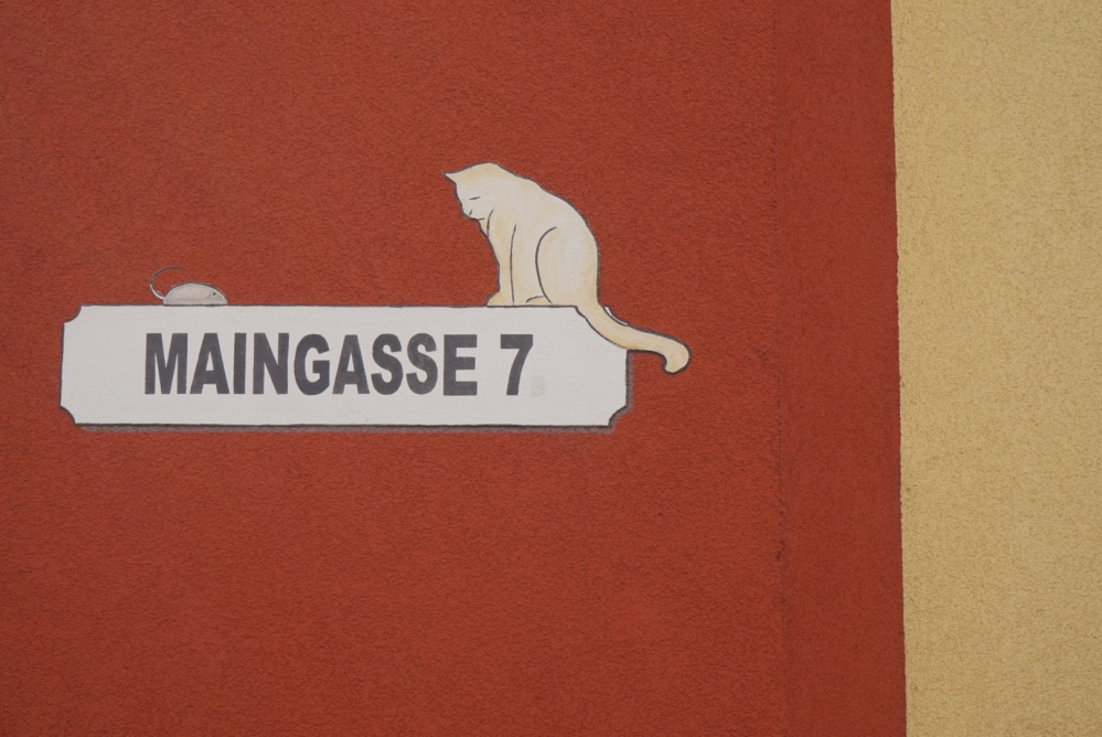 A nice street sign in Würzburg (colours again)